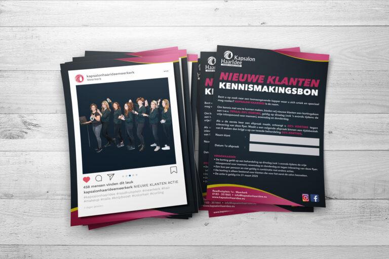 Kapsalon HaarIdee Nieuwe klanten flyer
