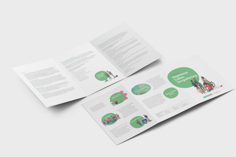 Univé Het Groene Hart drieluik folder